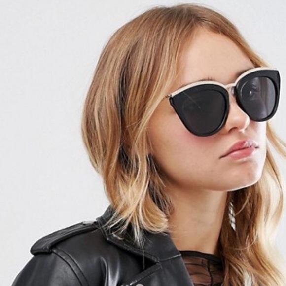 e59d77dc021e6 Le Specs Eye Slay Cat Eye Sunglasses Black NWT